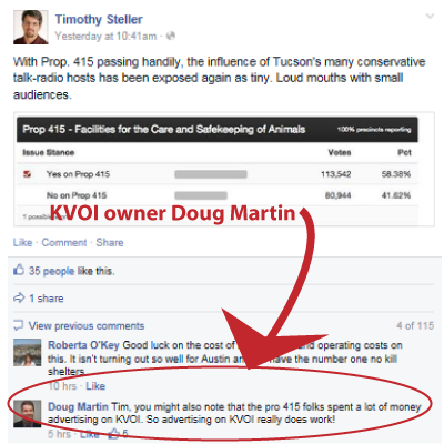 KVOI owner Doug Martin attests to the power of ads