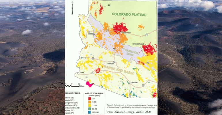 Map Of Arizona Historical Sites.Young Volcanic Fields Of Arizona Arizona Daily Independent