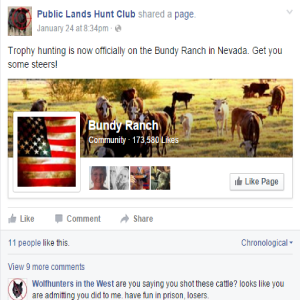 Mr. LaVoy Finicum was killed just days after this post.