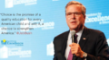 Jeb Bush on Foundation for Excellence in Education's promotional material to push charter schools