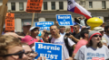"The ""Bernie or Bust"" rally took place in downtown Philadelphia near the Democratic National Convention events Tuesday. (Photo by Kelsey DeGideo/Cronkite News)"