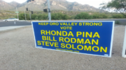 The signs, posted by Don Cox's Triple E PAC at numerous locations throughout Oro Valley on Wednesday afternoon, could not legally be installed until Friday, July 1st.