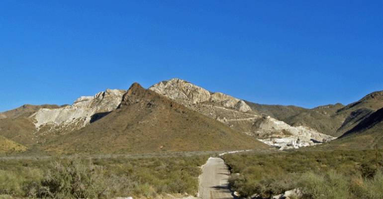 White Scar On Western Flank Of The Santa Rita Mountains