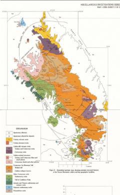 Map Of Southeast Arizona.Tucson Mountains Geology Complex And Controversial Arizona Daily