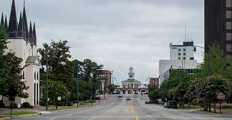 Green Street is in the heart of downtown Fayetteville, North Carolina, which has a long military history as it is a neighbor to Fort Bragg and Pope Army Airfield. (Photo by Michael Olinger/News21)