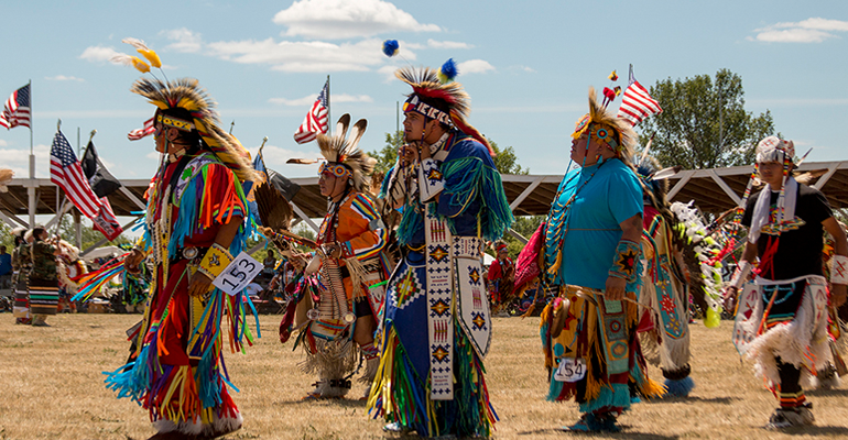 The Sisseton Wahpeton Oyate tribe conducted its 149th annual Wacipi, also known as a powwow, during the Fourth of July weekend in South Dakota. It is the second-oldest Wacipi in the nation. The tribe chose this date because at the time it was illegal for them to practice their religious ceremonies because they spoke another language. They could pass off their cultural celebration as a Fourth of July festivity. (Mike Lakusiak/News21)