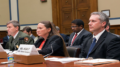 Michael Reynolds, Kelly Martin and Brian Healy, from left, told a House panel about harassment of and retaliation against workers at National Park Service sites. (Photo by Adam DeRose/Cronkite News)