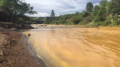 The Animas River ran yellow with toxin-tainted water last August after the accidental release of 3 million gallons of wastewater from the abanoned Gold King Mine near Durango, Colorado. (Photo courtesy Colorado Parks and Wildlife Department)