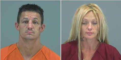 Steven Mullenax and Laura Stricker Booked on various charges.