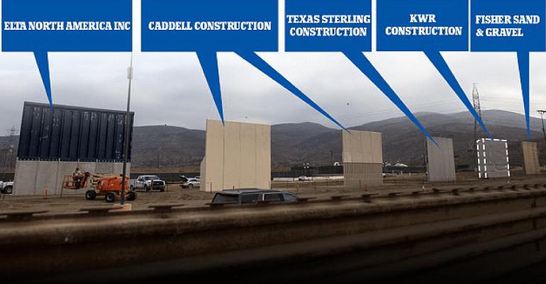 Contractors Of Border Wall Prototypes Includes 2 Arizona