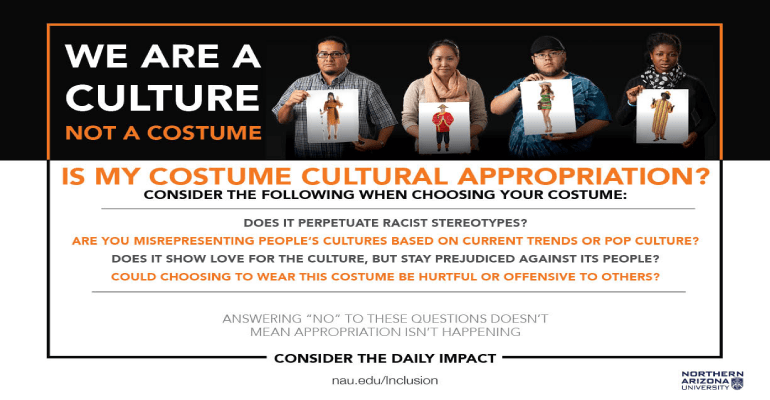 Weu0027re a Culture Not a Costume Poster C&aign  sc 1 st  Arizona Daily Independent & NAU Launches u201cWeu0027re A Culture Not A Costume Poster Campaign ...