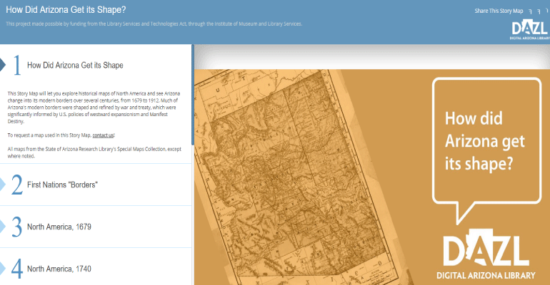 Map Of Just Arizona.Arizona State Library Unveils New Digital Map Arizona Daily