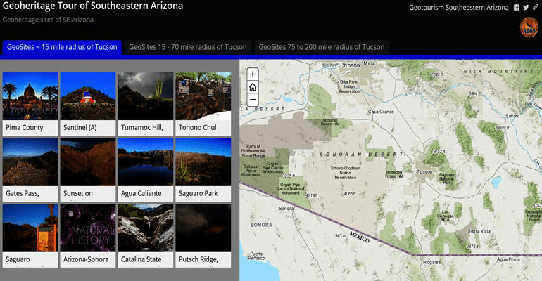 Map Of Just Arizona.A Geoheritage Tour Of Southeastern Arizona Arizona Daily Independent