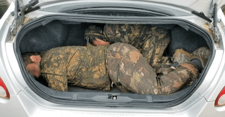 border patrol agents thwart 4 trunk smuggling attempts within 8