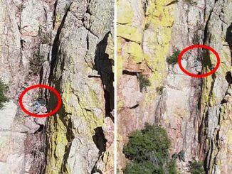 victim on cliffs