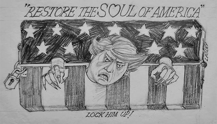 President for life / Trump và ước mộng không thành  Lock-him-up