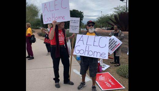 Progressive Groups Protest ALEC Annual Policy Summit, Sue Legislators