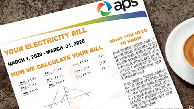 APS bill comic