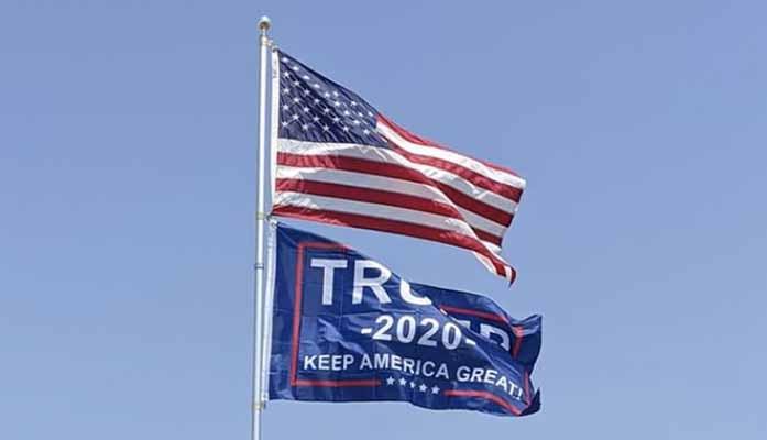 american flag trump flag