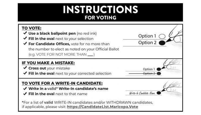 voter instructions